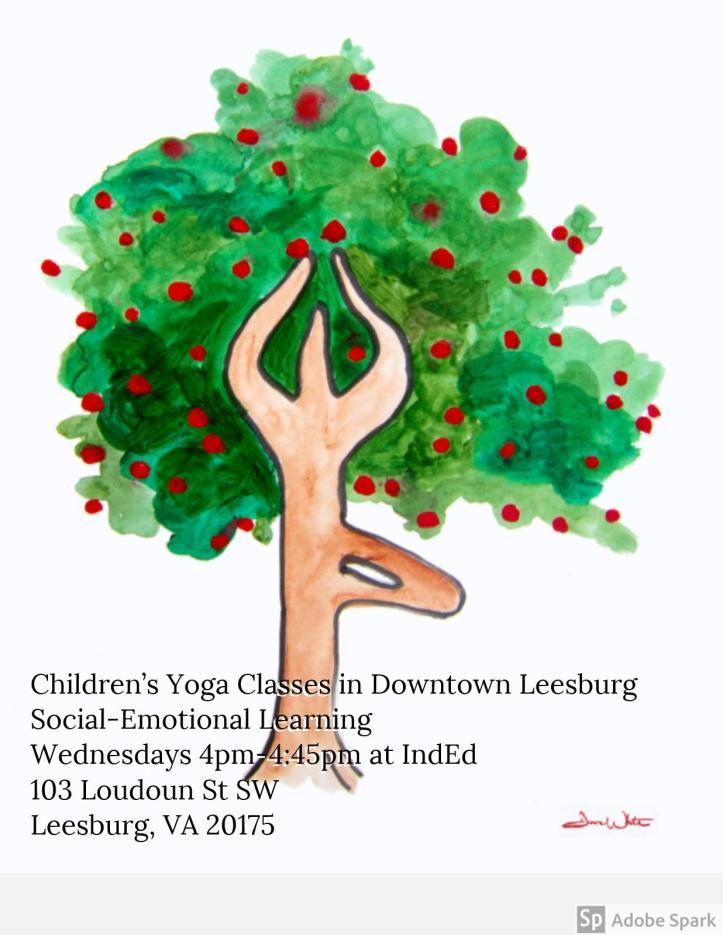 Children's Yoga Classes in Downtown Leesburg
