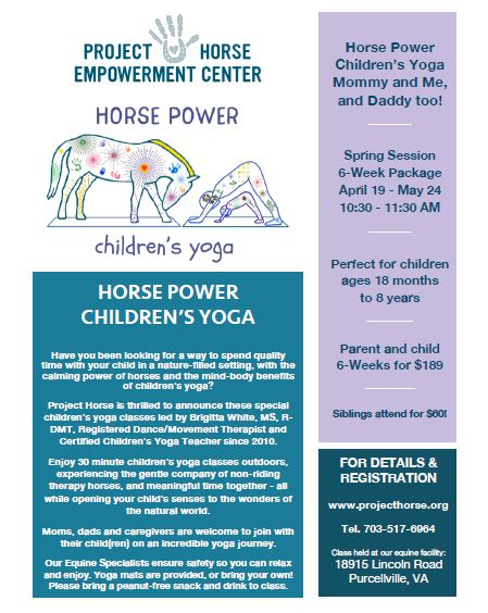 """horse power children's yoga"", ""project horse empowerment"", ""kids yoga loudoun"", ""childrens yoga loudoun"", ""kids horses loudoun"", ""kids activities loudoun"", ""childrens activities loudoun"""